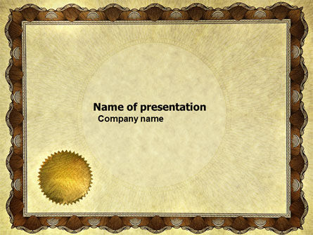 Certificate PowerPoint Template, 04029, Abstract/Textures — PoweredTemplate.com