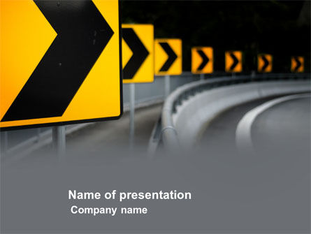 Construction: Road Reflector PowerPoint Template #04032