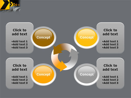 Road Reflector PowerPoint Template Slide 9