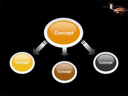 I Am The Light Of The World PowerPoint Template, Slide 4, 04034, Religious/Spiritual — PoweredTemplate.com