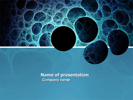 Porous Tissue PowerPoint Template, 04035, Abstract/Textures — PoweredTemplate.com