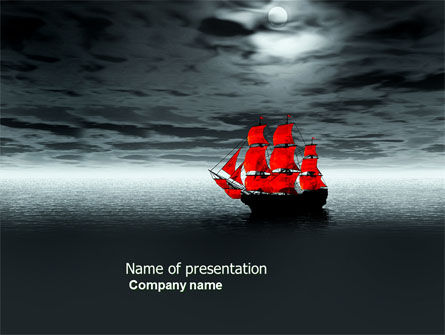 Scarlet Sails PowerPoint Template, 04038, Art & Entertainment — PoweredTemplate.com