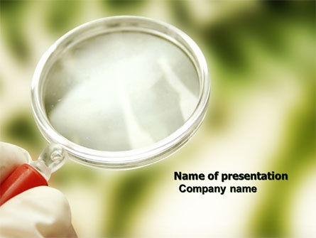 Investigation PowerPoint Template, 04041, Technology and Science — PoweredTemplate.com