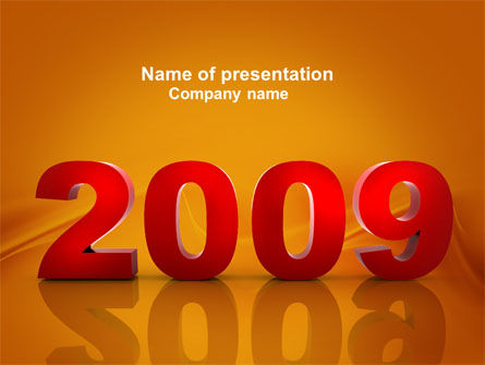 NY 2009 PowerPoint Template, 04047, Holiday/Special Occasion — PoweredTemplate.com