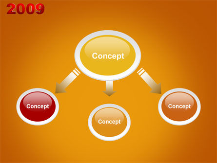NY 2009 PowerPoint Template, Slide 4, 04047, Holiday/Special Occasion — PoweredTemplate.com