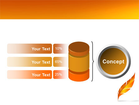 Feather In Orange Color PowerPoint Template Slide 11