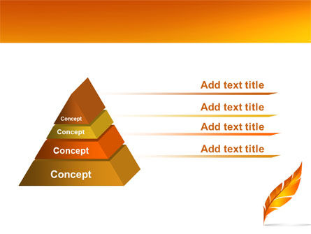 Feather In Orange Color PowerPoint Template Slide 12