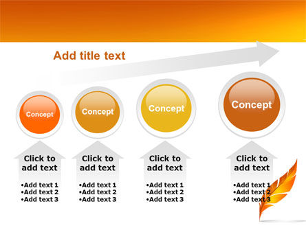 Feather In Orange Color PowerPoint Template Slide 13
