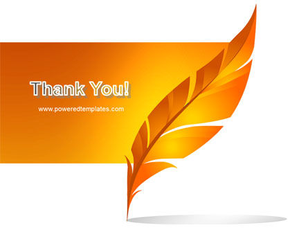 Feather In Orange Color PowerPoint Template Slide 20