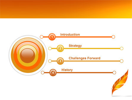 Feather In Orange Color PowerPoint Template Slide 3
