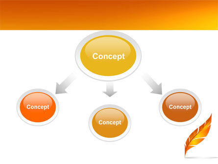 Feather In Orange Color PowerPoint Template Slide 4