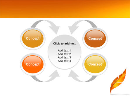 Feather In Orange Color PowerPoint Template Slide 6