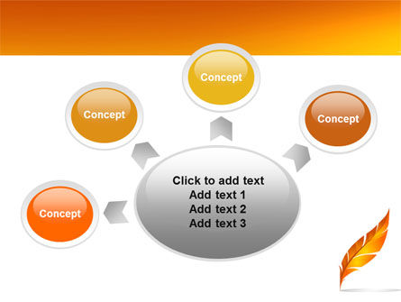 Feather In Orange Color PowerPoint Template Slide 7