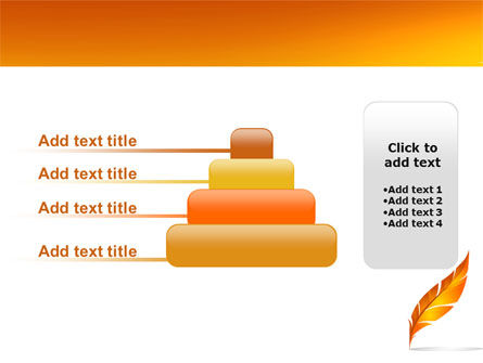 Feather In Orange Color PowerPoint Template Slide 8
