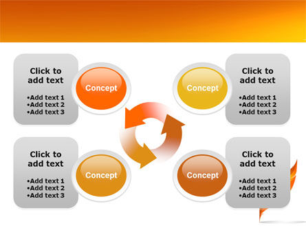 Feather In Orange Color PowerPoint Template Slide 9