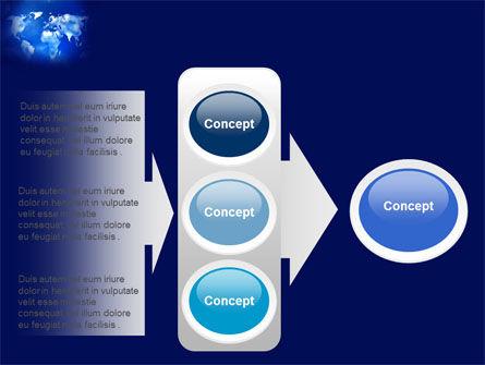 Wide World Blue Map PowerPoint Template Slide 11