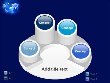 Wide World Blue Map PowerPoint Template Slide 12