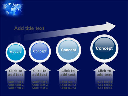 Wide World Blue Map PowerPoint Template Slide 13