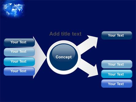 Wide World Blue Map PowerPoint Template Slide 14