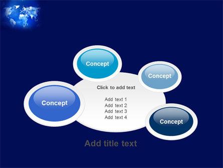 Wide World Blue Map PowerPoint Template Slide 16