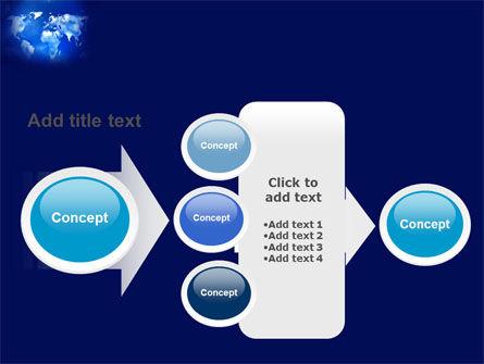 Wide World Blue Map PowerPoint Template Slide 17