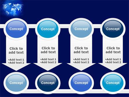 Wide World Blue Map PowerPoint Template Slide 18