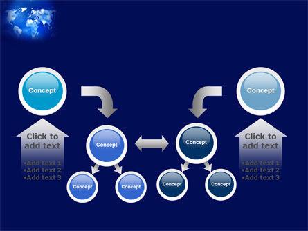 Wide World Blue Map PowerPoint Template Slide 19