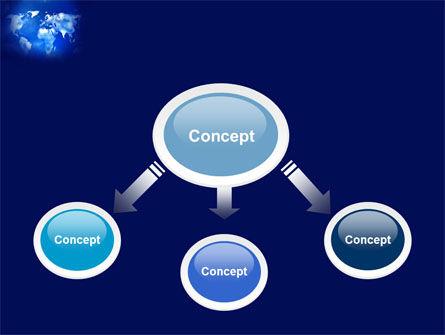 Wide World Blue Map PowerPoint Template Slide 4