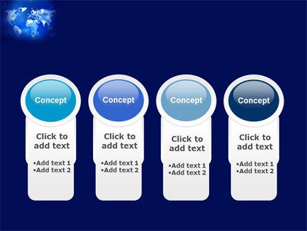 Wide World Blue Map PowerPoint Template Slide 5