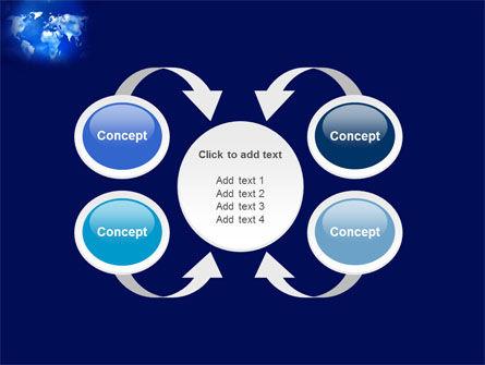 Wide World Blue Map PowerPoint Template Slide 6