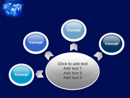 Wide World Blue Map PowerPoint Template Slide 7