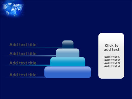 Wide World Blue Map PowerPoint Template Slide 8