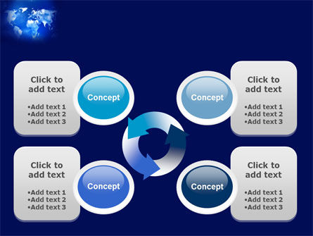 Wide World Blue Map PowerPoint Template Slide 9