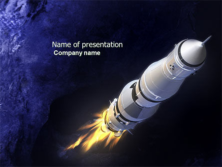 Technology and Science: Space Ship PowerPoint Template #04051