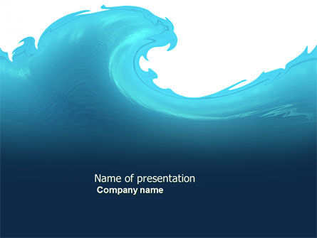 Abstract/Textures: Wave PowerPoint Template #04052