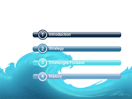 Wave PowerPoint Template Slide 3