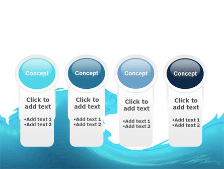 Wave PowerPoint Template Slide 5