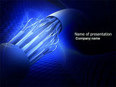 Telecommunication: Multifilament Wire PowerPoint Template #04055