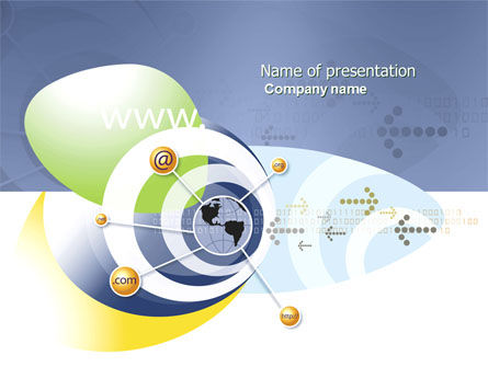 Communication Network PowerPoint Template, 04058, Telecommunication — PoweredTemplate.com