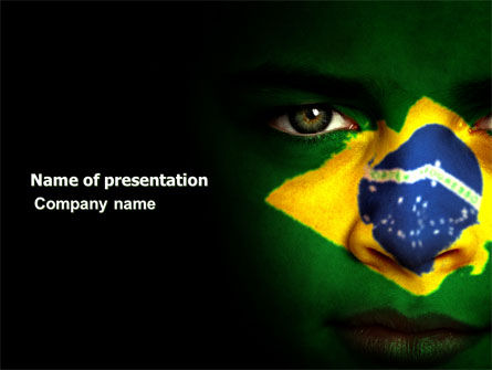 Face Of Brazil PowerPoint Template