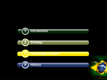 Face Of Brazil PowerPoint Template Slide 3