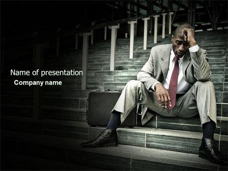 Economic Crisis PowerPoint Template, 04061, People — PoweredTemplate.com