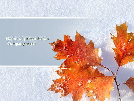 Nature & Environment: Late Autumn PowerPoint Template #04062
