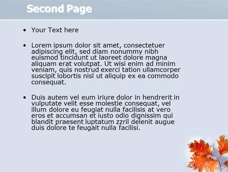 Late Autumn PowerPoint Template, Slide 2, 04062, Nature & Environment — PoweredTemplate.com
