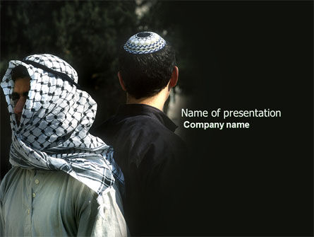 Arab-Israeli Conflict PowerPoint Template, 04064, People — PoweredTemplate.com