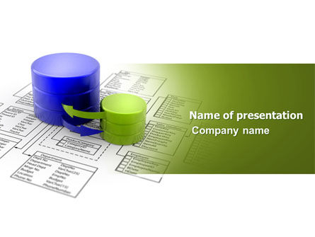 Technology and Science: Data Bases PowerPoint Template #04066