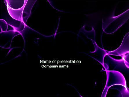 Purple Flames PowerPoint Template, 04070, Abstract/Textures — PoweredTemplate.com