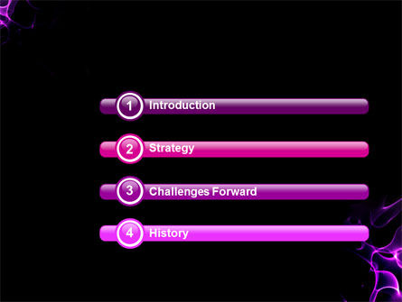 Purple Flames PowerPoint Template Slide 3