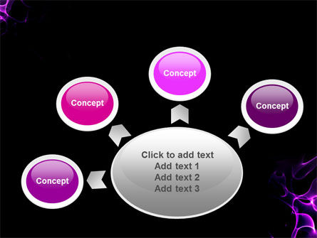 Purple Flames PowerPoint Template Slide 7