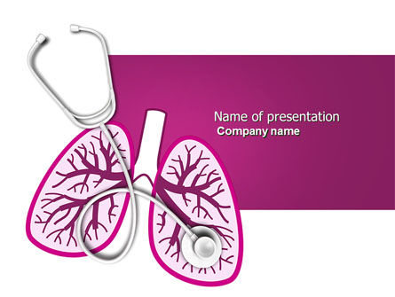 Medical: Human Lungs PowerPoint Template #04078
